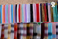 Coloured Tunisian scarves on display (Licence this image exclusively with Getty: http://www.gettyimages.com/detail/sb10065474dn-001 )