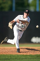 Winston-Salem side winding relief pitcher Jay Marshall (41) fires the ball to the plate versus the Frederick Keys at Ernie Shore Field in Winston-Salem, NC, Thursday, June 15, 2006.  Winston-Salem defeated Frederick 1-0 in game 1 of a double-header.
