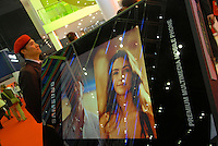 The booth of Samsung at ITU Telecom World 2006 at AsiaWorld-Expo in Hong Kong, China..