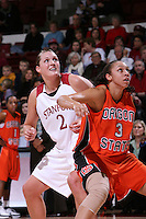 10 January 2008: Jayne Appel during Stanford's 81-45 win over Oregon State at Maples Pavilion in Stanford, CA.
