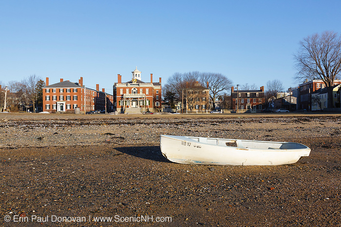 Salem Maritime National Historic Site from Derby Wharf in Salem, Massachusetts USA.