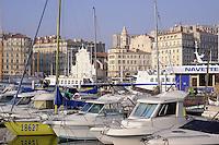 - Marsiglia, barche ormeggiate nel Porto Vecchio<br /> <br /> - Marseille, Boats moored in the Old Port