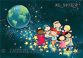 Interlitho, Simonetta, CHRISTMAS CHILDREN, naive, paintings, KL5873/2,#XK# Weihnachten, Navidad, illustrations, pinturas