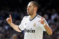 Real Madrid's Karim Benzema celebrates goal during La Liga match.March 02,2013. (ALTERPHOTOS/Acero) /NortePhoto