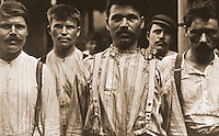 "Historical Views:  Lewis Hine Photograph ""Steelworkers at Russian Boarding House, Homestead PA, 1907/08"".  Photo '78.  Reference only."