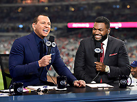 WASHINGTON DC - OCTOBER 26: Alex Rodriguez and David Ortiz at World Series Game 4: Houston Astros at Washington Nationals on Fox Sports at Nationals Park on October 26, 2019 in Washington, DC. (Photo by Frank Micelotta/Fox Sports/PictureGroup)