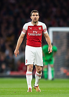Arsenal's Sokratis Papastathopoulos during the UEFA Europa League Semi-Final 1st leg match between Arsenal and Valencia at the Emirates Stadium, London, England on 2 May 2019. Photo by Andrew Aleksiejczuk / PRiME Media Images.