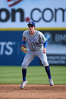 Hartford Yard Goats first baseman Michael Toglia (55) during a game against the Somerset Patriots on September 11, 2021 at TD Bank Ballpark in Bridgewater, New Jersey.  (Mike Janes/Four Seam Images)