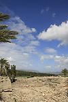 Israel, Jezreel valley. Tel Megiddo, a World Heritage Site