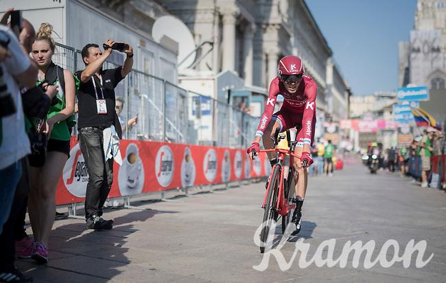 Ilnur Zakarin (RUS/Katusha) rolling in <br /> <br /> stage 21: Monza - Milano (29km)<br /> 100th Giro d'Italia 2017