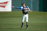 Max Hildreth (7) (Memphis) of the High Point-Thomasville HiToms warms up in the outfield prior to the game against the Deep River Muddogs at Finch Field on June 27, 2020 in Thomasville, NC.  The HiToms defeated the Muddogs 11-2. (Brian Westerholt/Four Seam Images)