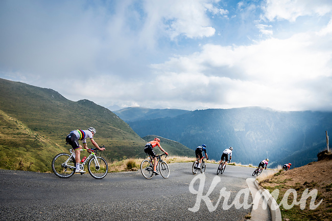World Champion Mads Pedersen (DEN/Trek-Segafredo) coming down the Port de Balès (HC climb)<br /> <br /> Stage 8 from Cazères to Loudenvielle (141km)<br /> <br /> 107th Tour de France 2020 (2.UWT)<br /> (the 'postponed edition' held in september)<br /> <br /> ©kramon
