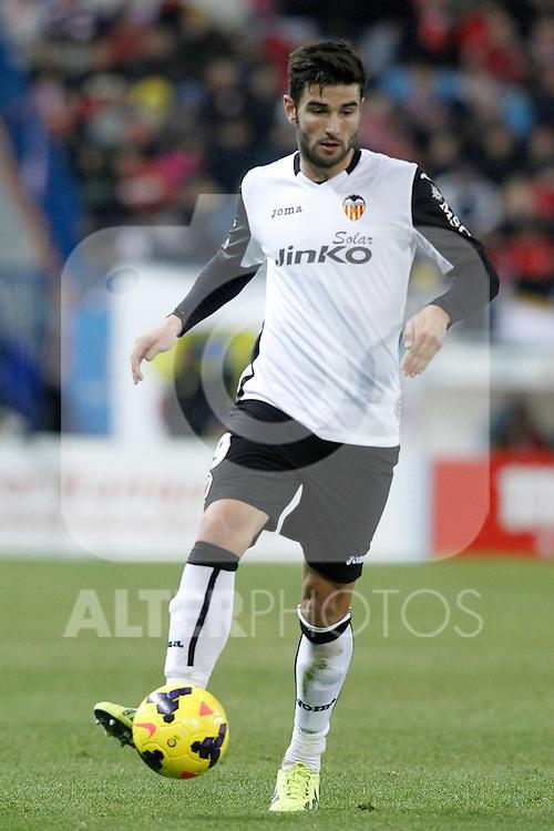 Valencia's Antonio Barragan during La Liga match.December 15,2013. (ALTERPHOTOS/Acero)