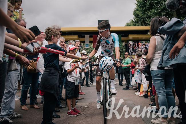 Romain Bardet (FRA/AG2R-La Mondiale) at the start<br /> <br /> 104th Tour de France 2017<br /> Stage 10 - Périgueux › Bergerac (178km)