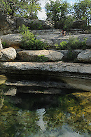 People enjoying Jacob's Well, Wimberley, Hays County, Central Texas, USA