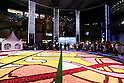 Tokyo governor Masuzoe attends the Brussels Flower Carpet opening ceremony