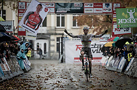 CX World Champion Mathieu van der Poel (NED/Corendon-Circus) winning the 3rd race of 3 since starting his CX season<br /> <br /> Jaarmarktcross Niel 2019 (BEL)<br /> <br /> ©kramon