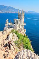 The well-known castle Swallow's Nest near Yalta. Crimea. Ukraine. Russia