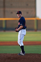 AZL Indians relief pitcher Alec Wisely (64) during an Arizona League game against the AZL Padres 1 on June 23, 2019 at the Cleveland Indians Training Complex in Goodyear, Arizona. AZL Indians Red defeated the AZL Padres 1 3-2. (Zachary Lucy/Four Seam Images)