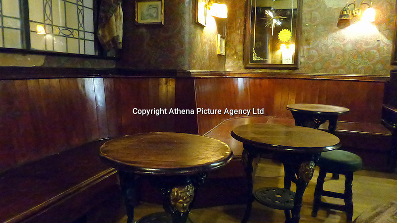 ALEX WEST STORY<br />Pictured: Interior view of Downies Vaults bar on Eastgate Street, Aberystwyth, Wales, UK. Thursday 10 February 2017<br />Re: Rugby player Gareth Davies seen on mobile phone footage assaulting people
