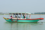 Asia, Vietnam, near Hoi An. Small pleasure boat on the Thu Bon river near Hoi An.
