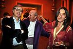VITTORIO SGARDI CON GENEROSO DI MEO E BENEDETTA LIGNANI MARCHESANI<br /> FESTA DI PRESENTAZIONE DEL CALENDARIO DI MEO -  <br /> PALAZZO KADIRI  MARRAKECH 2010