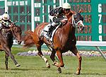 July 27, 2014: Starstruck, Kerwin Clark up, wins the Gr. III WinsStar Matchmaker Stakes at Monmouth Park in Oceanport, NJ.  Trainer is Larry Jones, owner is Calumet Farm. ©Joan Fairman Kanes/ESW/CSM