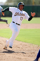 Michael Choice - Oakland Athletics - 2010 Instructional League.Photo by:  Bill Mitchell/Four Seam Images..