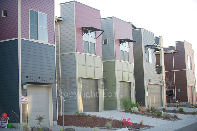 Row of Modern Homes
