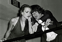 Jagger Hall6840.JPG<br /> New York, NY 1978 FILE PHOTO<br /> Mick Jagger, Jerry Hall<br /> Studio 54<br /> Digital photo by Adam Scull-PHOTOlink.net<br /> ONE TIME REPRODUCTION RIGHTS ONLY<br /> NO WEBSITE USE WITHOUT AGREEMENT<br /> 718-487-4334-OFFICE  718-374-3733-FAX