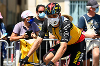 10th July 2021; Carcassonne, France;  VAN AERT Wout (BEL) of JUMBO-VISMA during stage 14 of the 108th edition of the 2021 Tour de France cycling race, a stage of 183,7 kms between Carcassonne and Quillan.