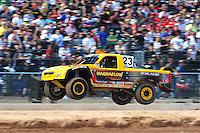 Mar. 19, 2011; Chandler, AZ, USA;  LOORRS pro four driver Jerry Daugherty during round one at Firebird International Raceway. Mandatory Credit: Mark J. Rebilas-US PRESSWIRE