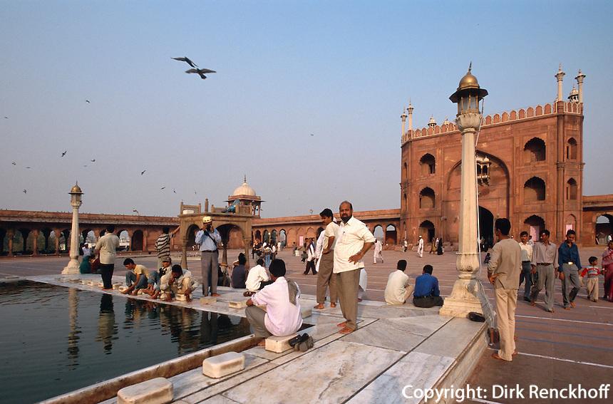 Indien, Delhi, in der Jama Masjid