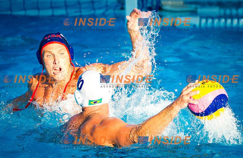 BRA-USA<br /> Brazil Vs USA<br /> SMITH Jesse USA<br /> PERRONE Felipe (C) BRA<br /> Day 10 02/08/2015<br /> XVI FINA World Championships Aquatics<br /> Waterpolo<br /> Kazan Tatarstan RUS July 24 - Aug. 9 2015 <br /> Photo Pasquale Mesiano/Deepbluemedia/Insidefoto