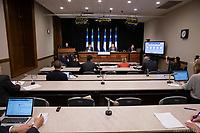 Conference de presse de Francois Legault durant la crise du COVID 19, Mai 2020, Quebec<br /> <br /> PHOTO : Emilie Nadeau, Cabinet du Premier Ministre