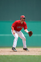 GCL Red Sox third baseman Nicholas Northcut (24) during a game against the GCL Orioles on August 9, 2018 at JetBlue Park in Fort Myers, Florida.  GCL Red Sox defeated GCL Orioles 10-4.  (Mike Janes/Four Seam Images)