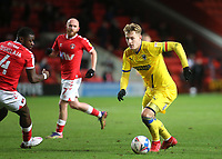 Joe Pigott of AFC Wimbledon in action during Charlton Athletic vs AFC Wimbledon, Sky Bet EFL League 1 Football at The Valley on 12th December 2020