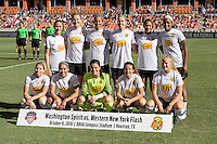 Houston, TX - Sunday Oct. 09, 2016: Western New Your Flash prior to the National Women's Soccer League (NWSL) Championship match between the Washington Spirit and the Western New York Flash at BBVA Compass Stadium. The Western New York Flash win 3-2 on penalty kicks after playing to a 2-2 tie.