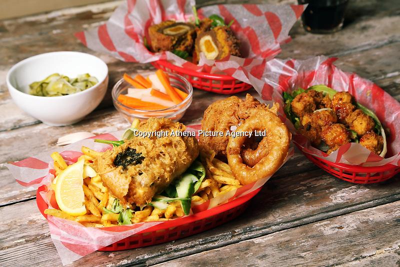 Food shots, The Last Resort, High Street, Swansea, Wales, UK. Tuesday 03 October 2017