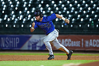 Jimmy Herron (30) of the Duke Blue Devils hustles towards second base against the against the Clemson Tigers in Game Three of the 2017 ACC Baseball Championship at Louisville Slugger Field on May 23, 2017 in Louisville, Kentucky. The Blue Devils defeated the Tigers 6-3. (Brian Westerholt/Four Seam Images)