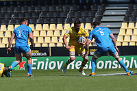 2nd May 2021; Stade Marcel-Deflandre, La Rochelle, France. European Champions Cup Rugby La Rochelle versus  Leinster Semi-Final;  Romain SAZY of Stade Rochelais runs into contact with Ryan of Leinster