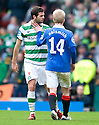 :: CELTIC'S JOE LEDLEY AND RANGERS' STEVEN NAISMITH FACE UP TO EACH OTHER ::