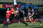 China plays Singapore on the men plate final during the ARFU Asian Rugby 7s Round 1 on August 24, 2014 at the Hong Kong Football Club in Hong Kong, China. Photo by Xaume Olleros / Power Sport Images
