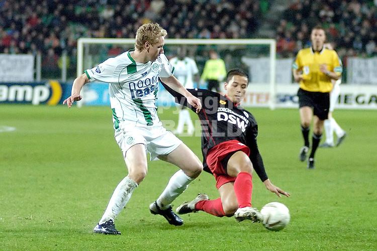 fc groningen - excelsior eredivisie seizoen 2007-2008 12-01-2008.stafan nijland.fotograaf Jan Kanning *** Local Caption ***