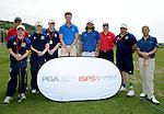 ISPS Handa golf Academy with Pro Golfers Chris Wood (L) and Johan Edfors (R). ..ISPS Handa Wales Open 2012 - Pro Am - Wednesday 30th May 2012 - Twenty Ten Course, Celtic Manor Resport - Newport - Wales - UK ..© www.sportingwales.com- PLEASE CREDIT IAN COOK