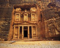"El Deir ""The Treasury"" at the entrance to the fabled city of Petra, Jorda"