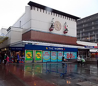 Pictured: The Congress Theatre in Cwmbran, where the male strip show took place which Wendy Fry attended with friends.<br /> Re: Jealous boyfriend Richard Badman who took his partner Wendy Fry hostage and attacked her after friends tagged her on Facebook at a male strip show after she claimed to have been going for 'a meal with the girls', is due to be sentenced at Newport Crown Court, Wales, UK.<br /> Fry, 54, told Badman, 50, she was eating out at a restaurant but he found a social media post revealing she was at a raunchy show called Forbidden Nights - starring dancers called Sexy Viking, Billy Blue Eyes and the Italian Stallion. <br /> Badman took Ms Fry captive at his home, puncher her, put a screwdriver to her neck and sprayed her with CS gas and also found to have held a pillow over her face and told her 'you'll be going home in a box'. during the ordeal.