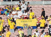 Actio photo during the match Brasil vs Ecuador, at Rose Bowl Stadium Copa America Centenario 2016. ---Foto  de accion durante el partido Brasil vs Ecuador, En el Estadio Rose Bowl, Partido Correspondiante al Grupo -B-  de la Copa America Centenario USA 2016, en la foto: Fans<br /> --- 04/06/2016/MEXSPORT/ David Leah.
