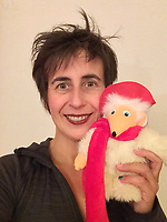 BNPS.co.uk (01202 558833)<br /> Pic: GillSeyfang/BNPS<br /> <br /> Gill Seyfang with one of her many Wombles.<br /> <br /> An environmentalist is selling the world's biggest Womble collection after the famous furry creatures inspired her to save the planet as a child.<br /> <br /> Gill Seyfang, a senior lecturer in Sustainable Consumption at the University of East Anglia, owns over 1,700 items relating the furry creatures.<br /> <br /> Her vast collection ranges from soft toys to rubbish bins and was recognised by the Guinness Book of Records in 2016.<br /> <br /> Ms Seyfang, from Norwich, Norfolk, began amassing the group in the 1970s and it has continued to grow ever since.