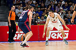 Bayern Munich´s player Savanovic and Real Madrid´s player Maciulis during the 4th match of the Turkish Airlines Euroleague at Barclaycard Center in Madrid, Spain, November 05, 2015. <br /> (ALTERPHOTOS/BorjaB.Hojas)